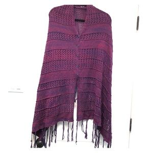 Lularoe Heathered purple Mimi sweater one size